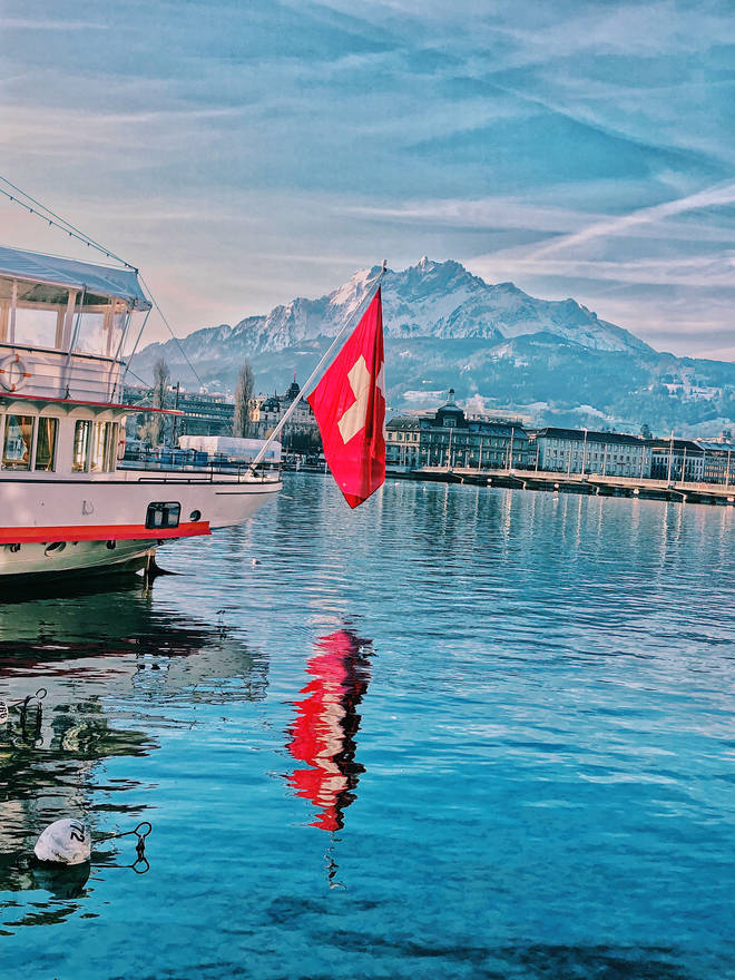 Lake Lucerne and Mount Pilatus