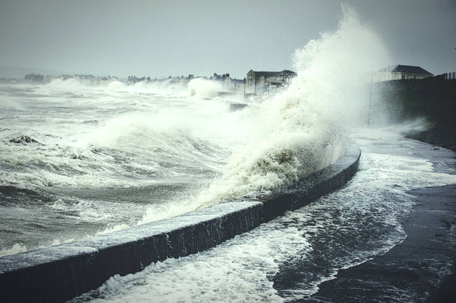 The Met Office has warned that Storm Gareth may cause big waves (stock image)
