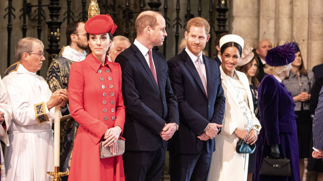 Meghan Markle, Prince Harry, Prince William and Kate Middleton attend the Commonwealth Day Service