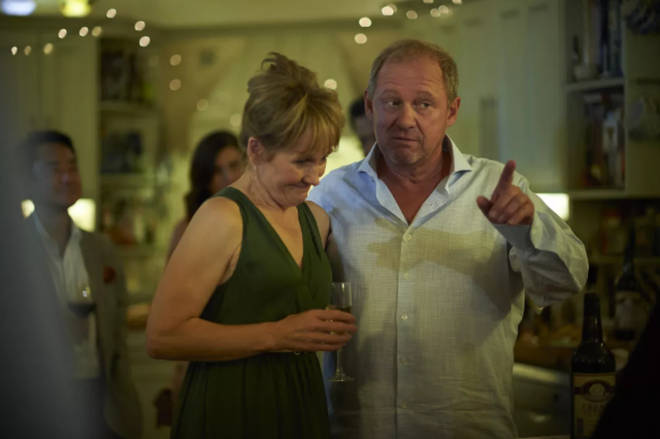 Lorraine Ashbourne and Peter Firth