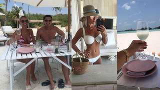 Billie and Greg are honeymooning in style in the Maldives