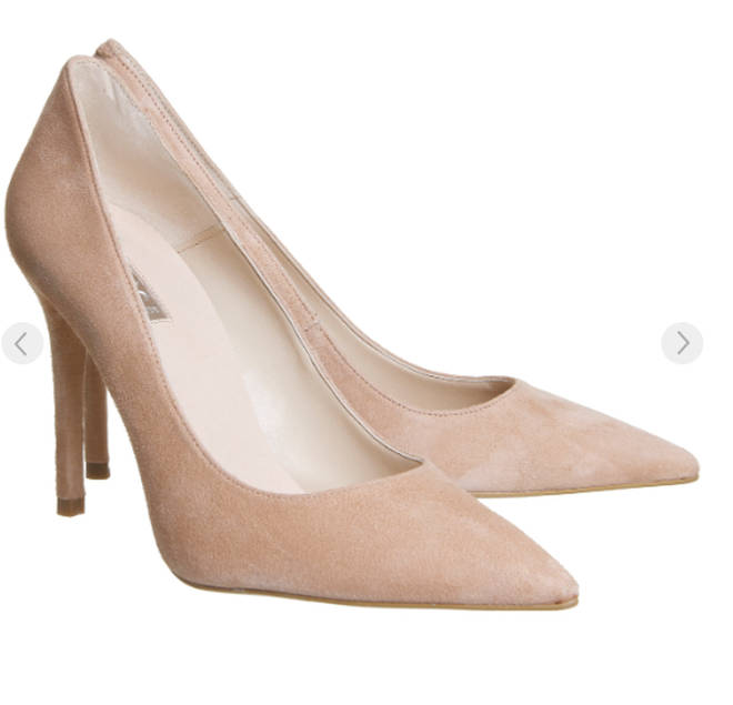 Kelly's heels are from Office