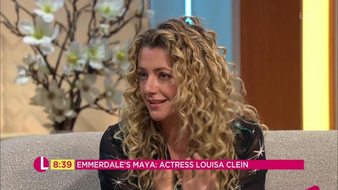 Emmerdale's Louisa Clein hits back at Maya Stepney grooming