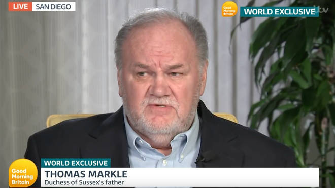Thomas Markle was unable to attend Meghan Markle's wedding due to health issues