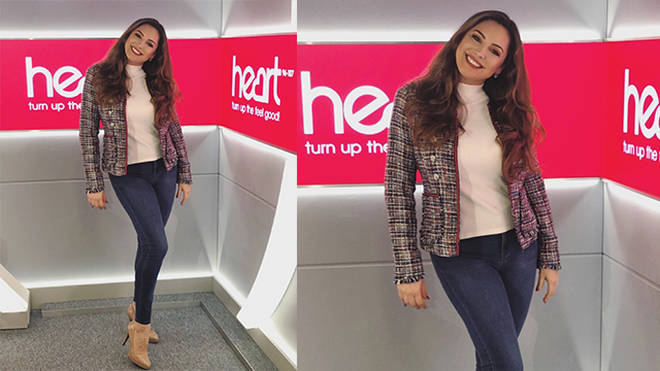 Kelly Brook is looking super chic today on Heart!