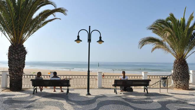 The promenade at Praia da Luz in Portugal
