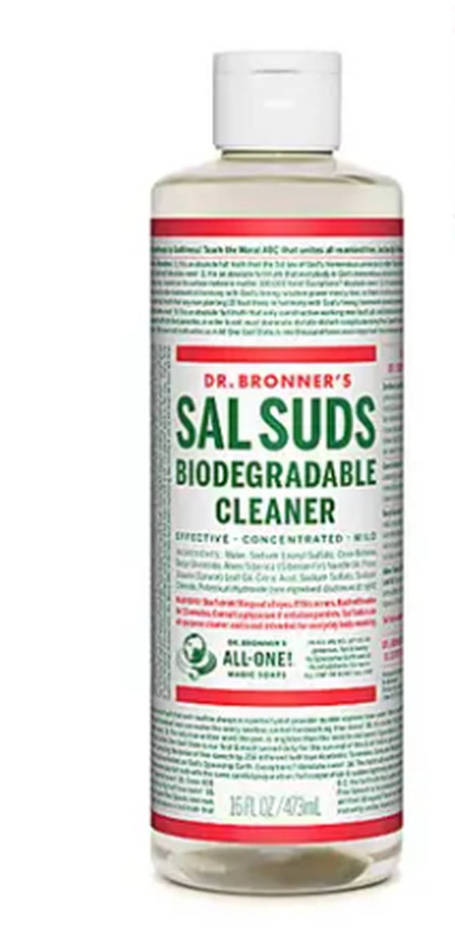 Doctor Bronner's biodegradable cleaner is multi-purpose
