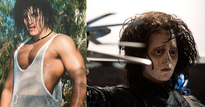 Peter Andre resembles Edward Scissorhands in his latest Instagram throwback