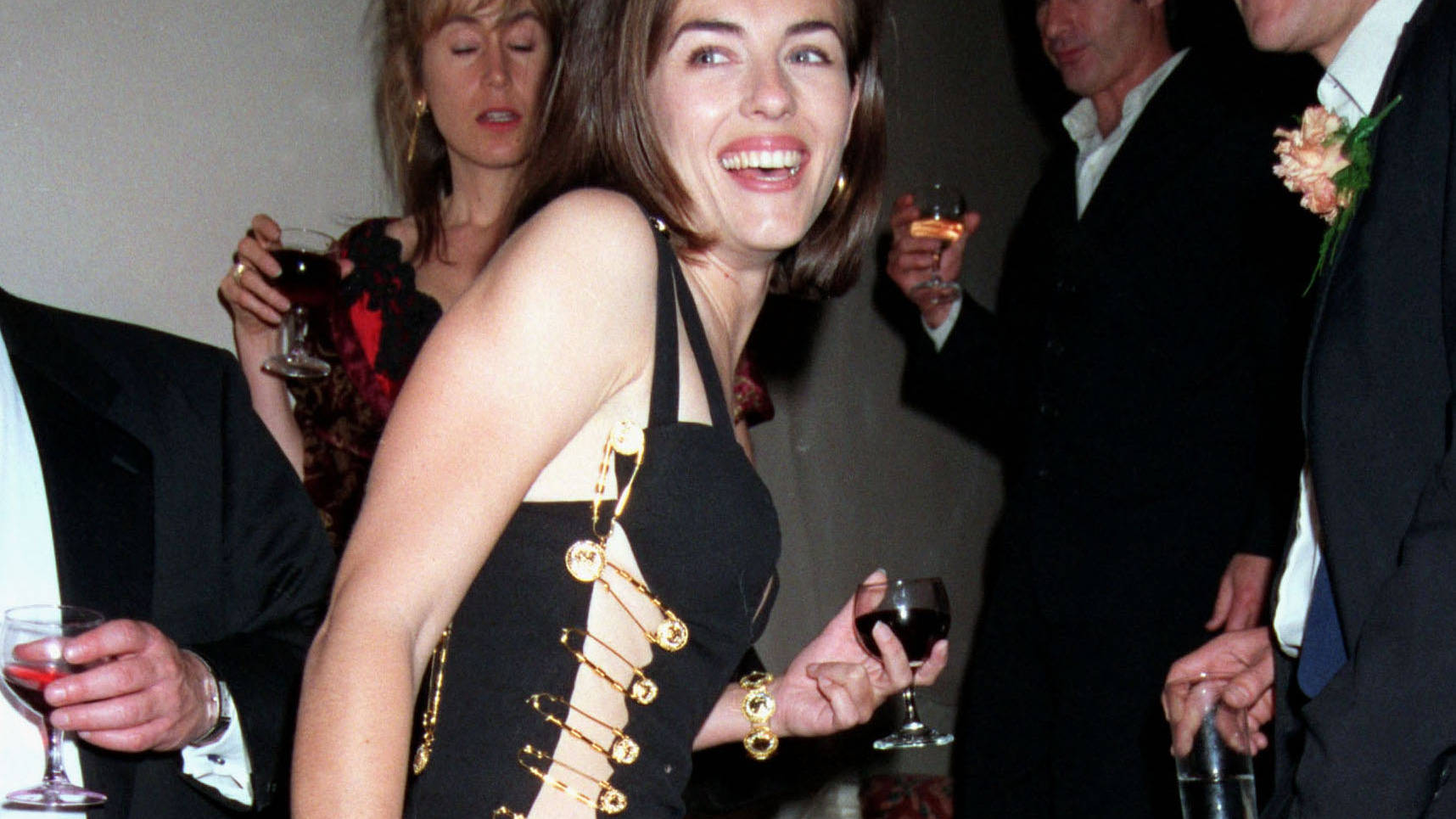 1daf3138b86 What was Elizabeth Hurley s Versace safety pin dress and when did she wear  the iconic look