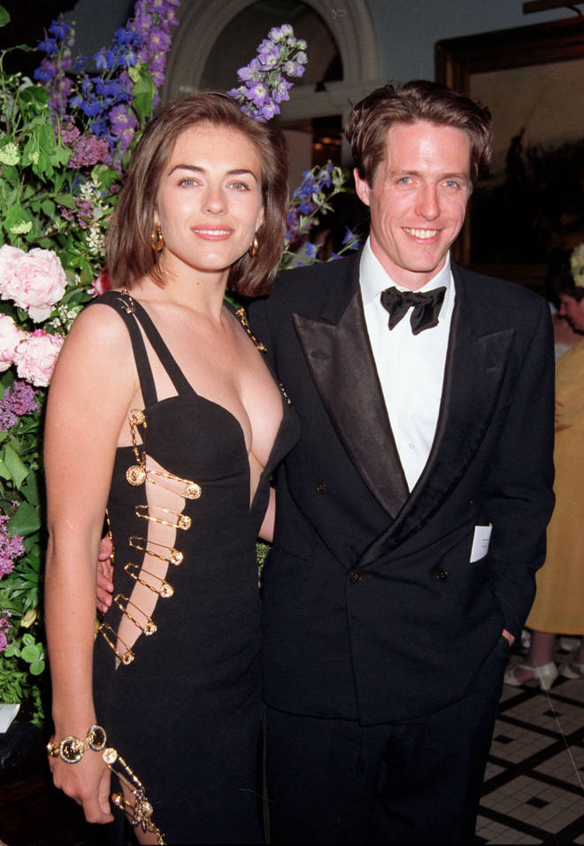 Elizabeth Hurley and Hugh Grant at the Four Weddings and a Funeral premiere in 1994
