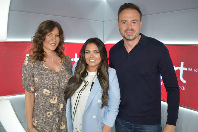 Scarlett chatted to Lucy Horobin and Jamie Theakston on Her Breakfast