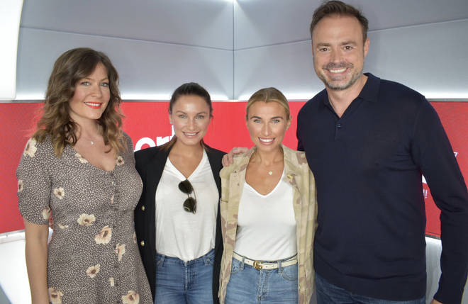 Sam and Billie Faiers visited Heart London Breakfast