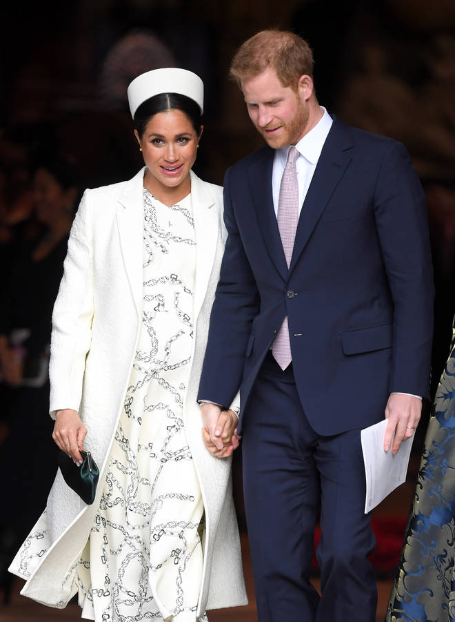 Meghan is expected to give birth in April