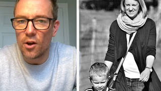 Widower Simon Thomas admitted the run up to Mother's Day has been challenging