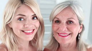 Holly Willoughby posed alongside her mum, Linda