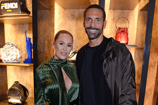 Kate Wright and Rio Ferdinand got engaged last year