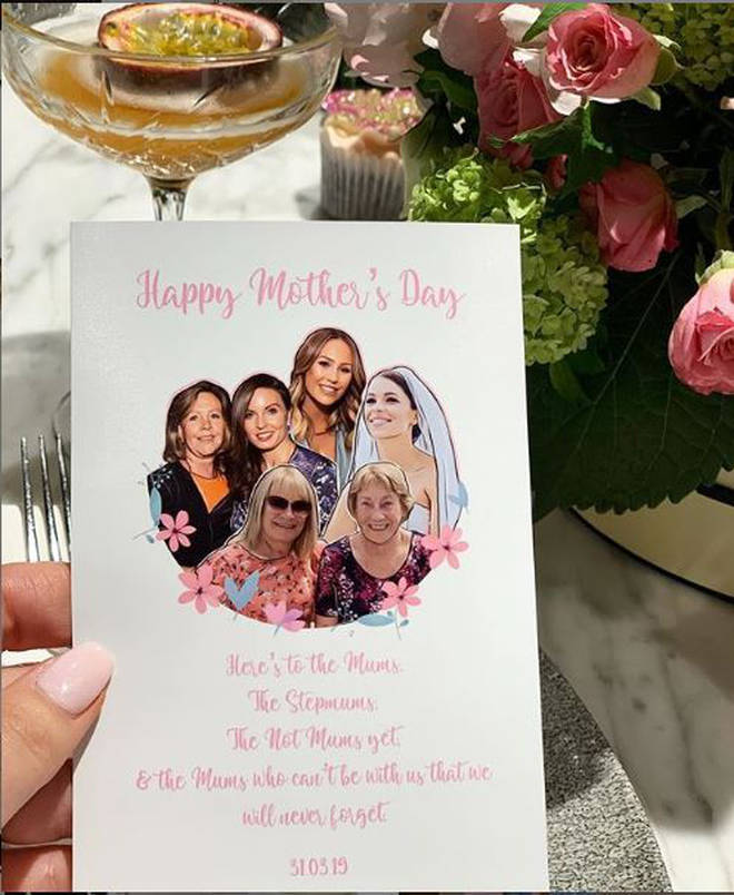 Kate shared a picture of the card to her Instagram stories