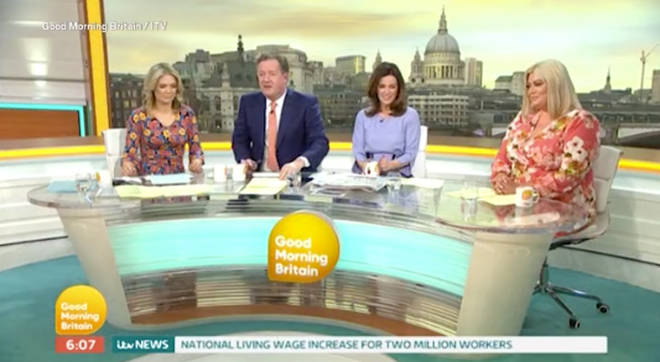 The GMB hosts were shocked by the footage