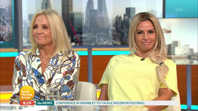 Katie appeared alongside her mother Amy on this morning's show