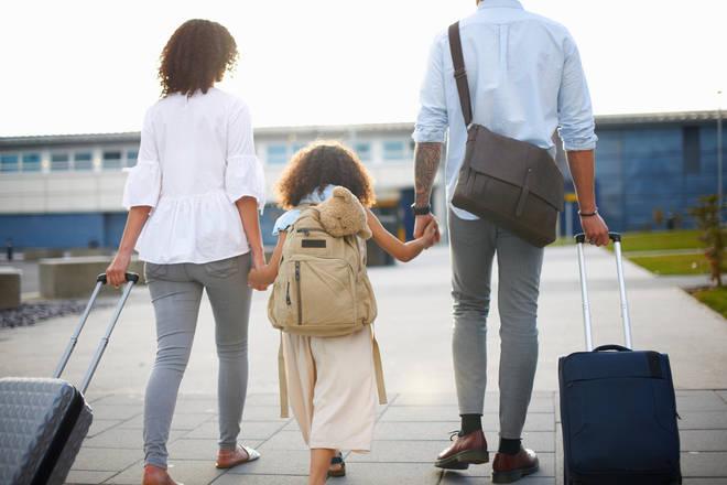 Kids parents airport