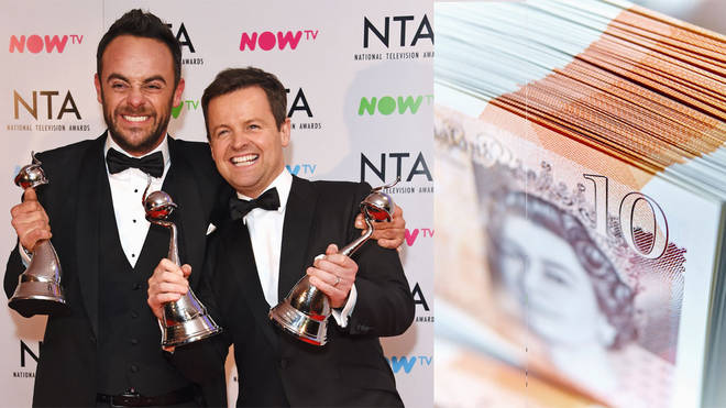 Ant and Dec have raked in the big bucks in 2018