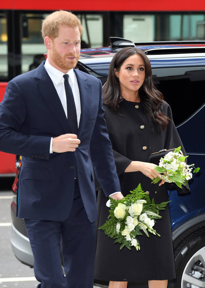 The Duke And Duchess Of Sussex Sign A Book Of Condolence At New Zealand House