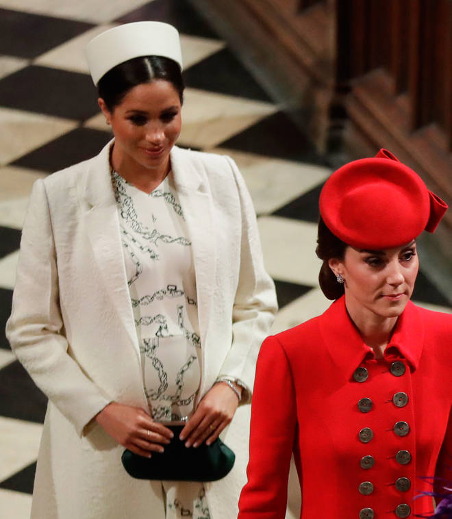 Despite her higher profile, Meghan remains lower in the hierarchy than Kate