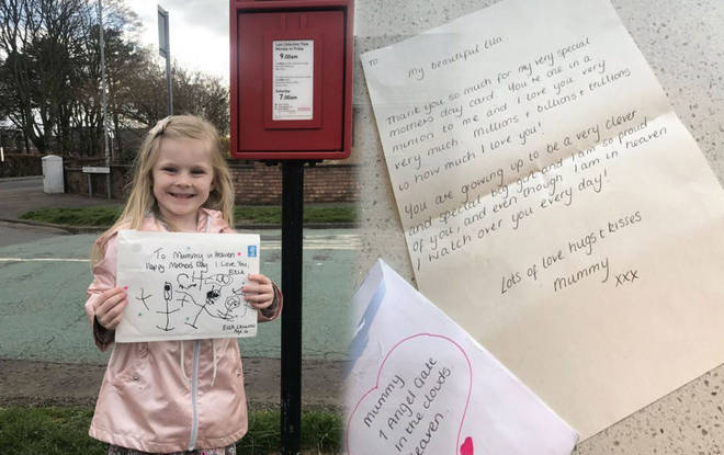 Royal Mail reply to girl who lost her mum