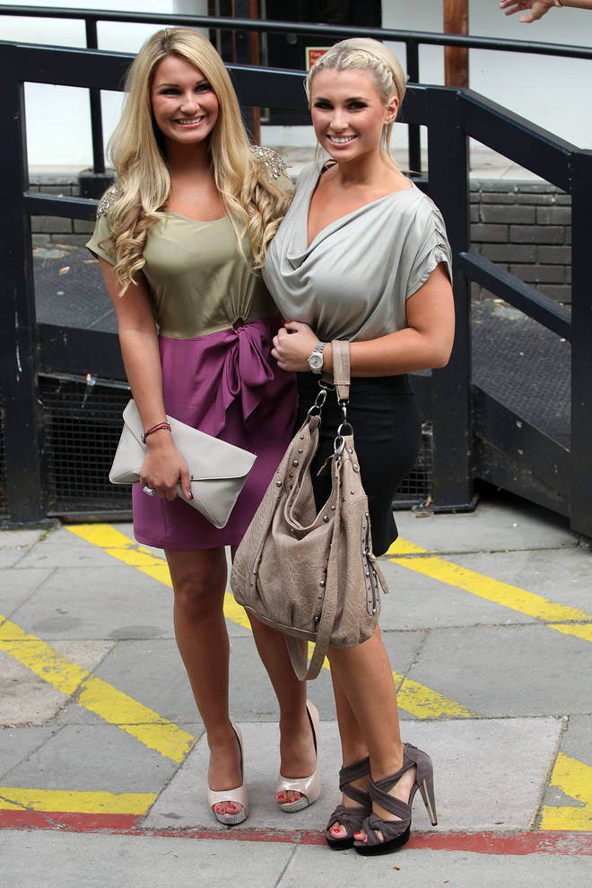 Sam and Billie Faiers pictured in the early TOWIE days