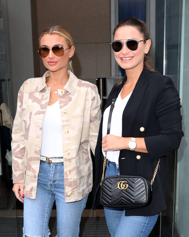 Sam and Billie Faiers pictured recently outside the Heart office