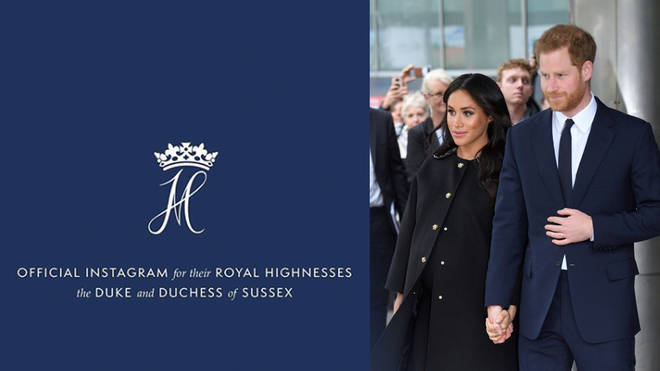 Prince Harry and Meghan unveiled their Instagram on Tuesday