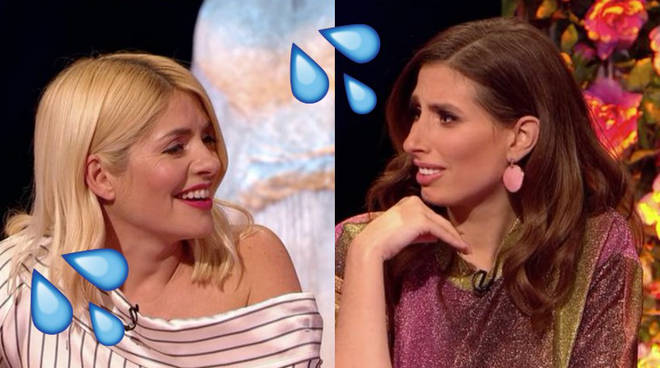 Holly and Stacey were quizzed on their sex lives in last night's episode