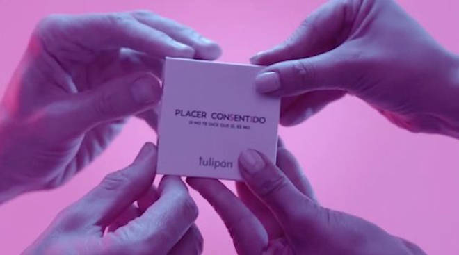 The 'consent condoms' are currently available in Argentina