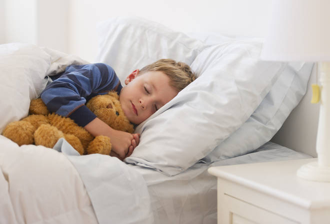 A new study claims to have found the optimal times to put your kids to bed (stock image)