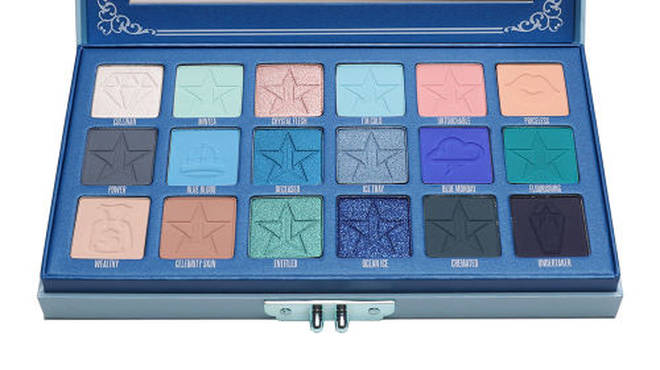 The Blue Blood palette has 18 cool shades