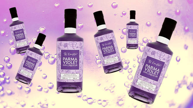 The violet gin is now retailing at less than half price