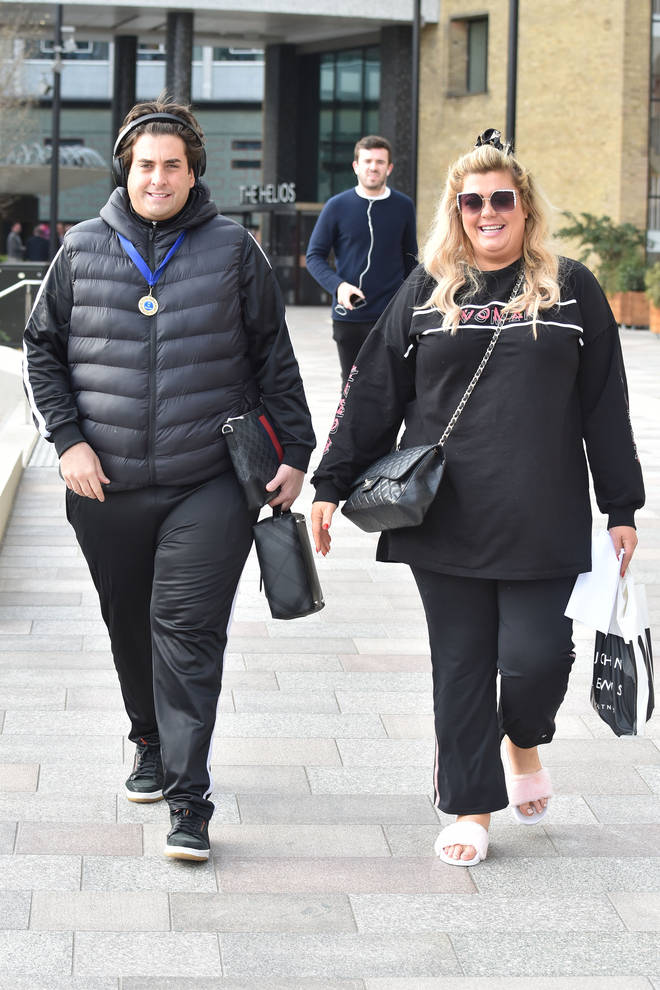 Gemma Collins and Arg pictured in February