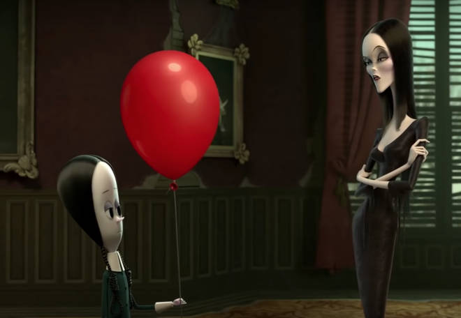 Chloe Grace Moretz is the voice of Wednesday Addams, and Charlize Theron is Morticia