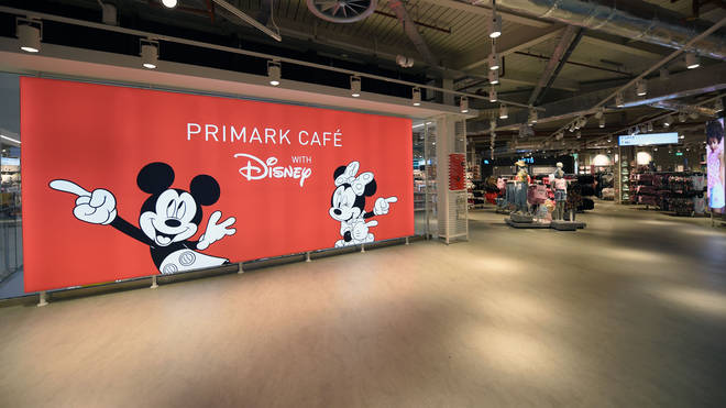 The Primark even has a Disney themed cafe