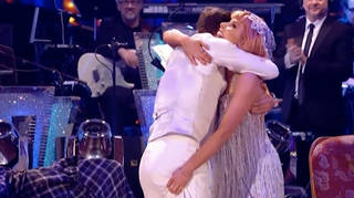 Stacey grabbed Kevin's BUM after they performed the Charleston