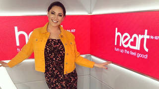 Kelly Brook paired a jumpsuit with yellow jacket on Tuesday