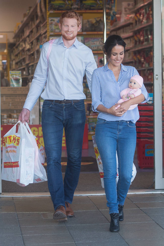 The couple were spotted at Smyths buying toys for their baby