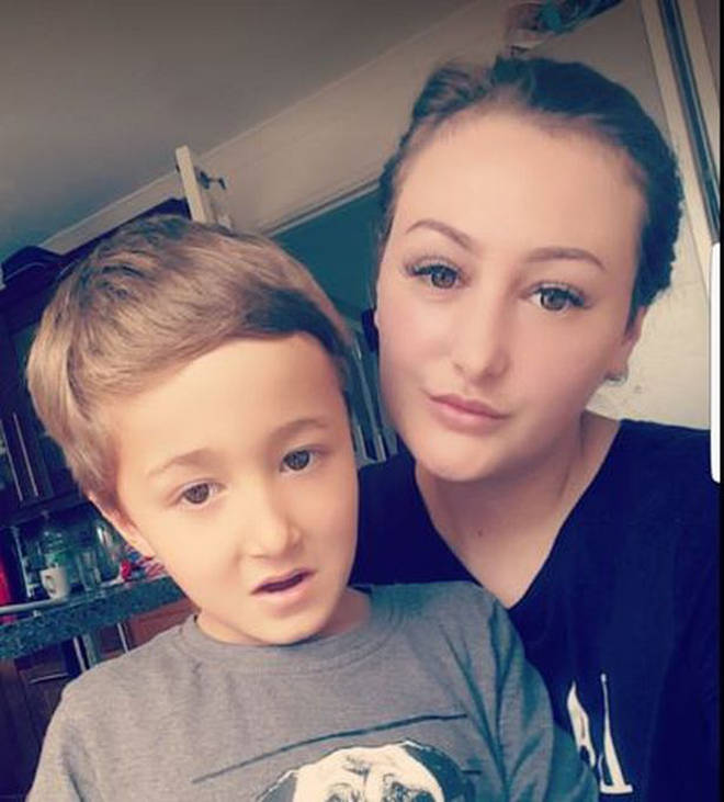 Single mum Lucy Lester, 27, with her son Jake