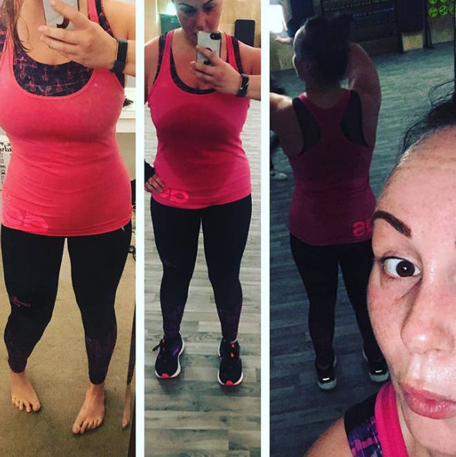 Chanelle Hayes has been keeping her fans up to date with her progress