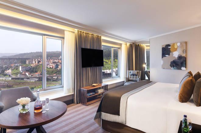 A gorgeous junior suite at the Corinthia's Lisbon hotel