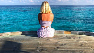 Holly Willoughby and her children have been taking a sun-soaked break in the Maldives