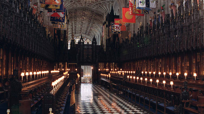 The interior of the Chapel of St George in Windsor Castle.