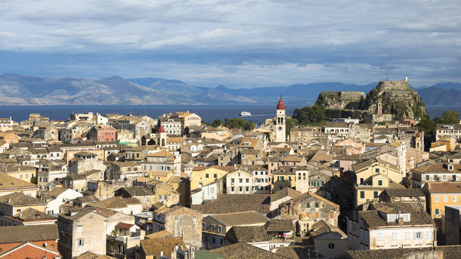 Corfu's Old Town in Greece