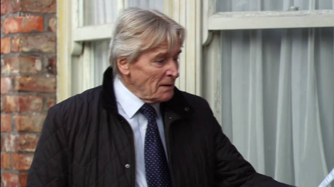 Ken Barlow was furious after receiving the dog fouling fine