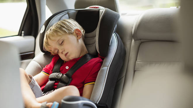Paramedics have spoken on the benefits of leaving emergency info on a baby car chair